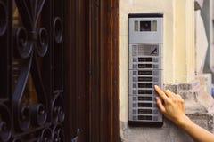 De knoop van de intercom met een camera Stock Afbeeldingen