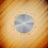 De knoop van de metaalmacht met ander krabbelontwerp vector illustratie