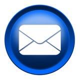 De knoop van het de enveloppictogram van de post Stock Foto's