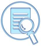 De knoop van het onderzoek, onderzoekspictogram royalty-vrije illustratie