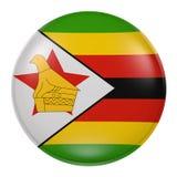 De knoop van Zimbabwe op witte achtergrond Stock Foto