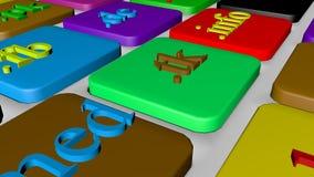 De knoopsleutel van het computertoetsenbord met kleurrijke website en Internetdomeinnamen vector illustratie