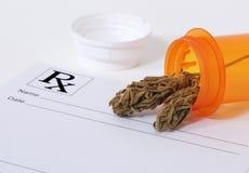 De knop van de cannabis Royalty-vrije Stock Fotografie