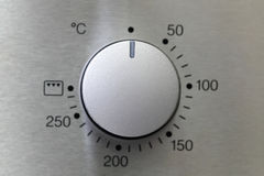 De knop van de oven stock fotografie