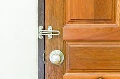 De knop van de Silvedeur en deurhandvat Royalty-vrije Stock Afbeeldingen