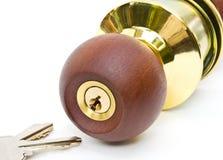 De knop van het slot. Royalty-vrije Stock Afbeelding