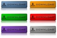 De Knopen van de download Stock Afbeeldingen