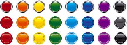 De knopen van de kleur Stock Afbeelding