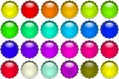 De knopen van de kleur vector illustratie