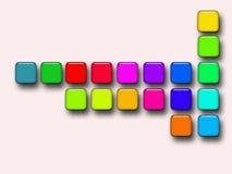 De knopen van de kleur als achtergrond Royalty-vrije Stock Foto