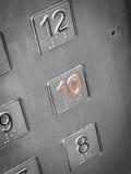 De knopen van de lift Stock Foto's