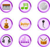 De knopen van de muziek Stock Foto's