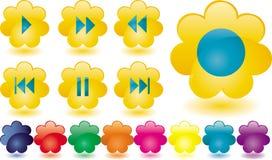 De knopen van de muziek als gele bloem Royalty-vrije Stock Foto