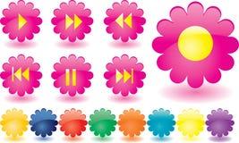 De knopen van de muziek als roze bloemen Royalty-vrije Stock Foto