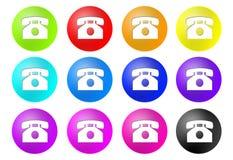 De knopen van de telefoon Stock Foto