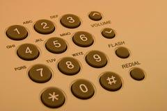 De knopen van de telefoon Stock Fotografie