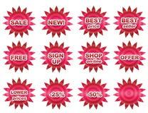 De knopen van de verkoop Stock Foto