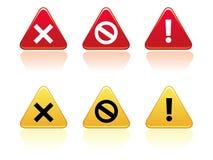 De Knopen van de waarschuwing vector illustratie