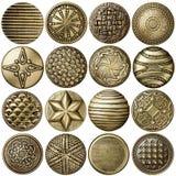 De knopen van het brons royalty-vrije stock afbeeldingen