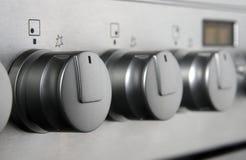 De knopen van het fornuis Stock Foto