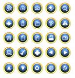 De knopen van het pictogram voor het Web stock illustratie