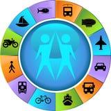 De Knopen van het vervoer - Wiel vector illustratie