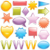 De knopen van het Web Royalty-vrije Stock Afbeelding