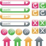 De Knopen van het Web Stock Afbeeldingen