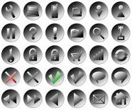 De knopen van het Web Royalty-vrije Stock Foto's