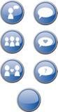 De knopen van het Web/mededeling Royalty-vrije Stock Afbeeldingen