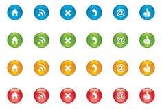 De Knopen van het Webpictogram Stock Foto's