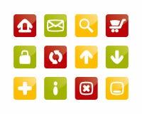 De knopen van Internet en van de Website Stock Foto