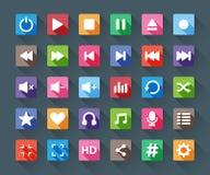 De Knopen van Media Player Stock Afbeelding