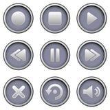 De Knopen van Media Player Stock Afbeeldingen