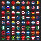 De knopen van vlaggen Stock Foto
