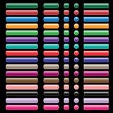 De knopeninzameling van het Web in geassorteerde kleuren Stock Afbeeldingen