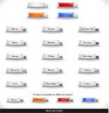 De knopenpak van het Web stock illustratie