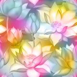 De knoppen en de bloemen naadloos behang van Lotus , De aquatische installatie bloemen grafisch ontwerp van Water lilly nelumbo royalty-vrije illustratie