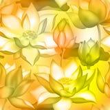 De knoppen en de bloemen naadloze achtergrond van Lotus , De aquatische installatie bloemen grafisch ontwerp van Water lilly nelu vector illustratie