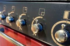 De knoppen van de oven Stock Afbeeldingen