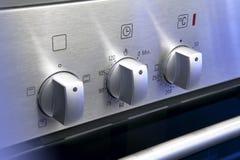 De knoppen van de oven stock fotografie