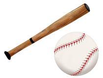 De knuppel en de bal van het honkbal Stock Foto's