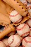 De Knuppel en de Handschoen van Baseballs Stock Afbeelding