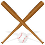 De knuppels en de bal van het honkbal Stock Foto