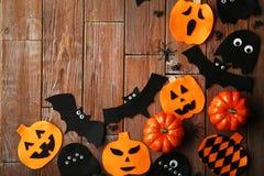 De knuppels, de spoken en de pompoenen van Halloween Royalty-vrije Stock Foto's