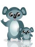 De Koala van de moeder en het baby Royalty-vrije Stock Foto
