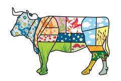 De koe van Eco Royalty-vrije Stock Afbeeldingen