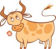 De koe van het beeldverhaal royalty-vrije illustratie