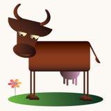 De koe van het beeldverhaal Royalty-vrije Stock Foto