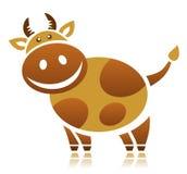 De koe van het beeldverhaal Stock Afbeeldingen